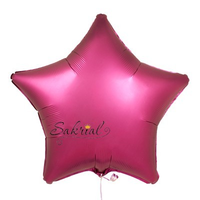 Купить шар Звезду Сатин «Бургундий»