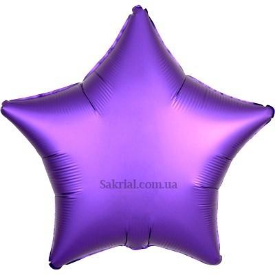 Купить шар Звезду Сатин «Фиолетовая»