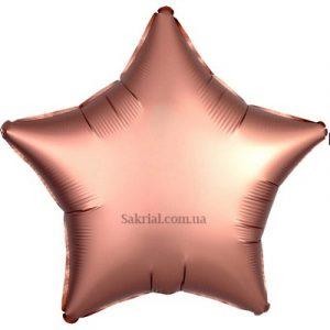 Купить шар Звезду Сатин «Розовое золото»