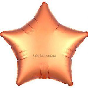 Купить шар Звезду Сатин «Янтарная»