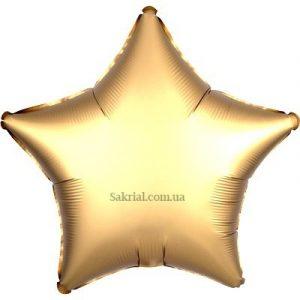 Купить шар Звезду Сатин «Золотая»