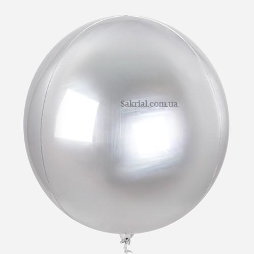 Купить Воздушный Шар 3D Сфера (Серебро)