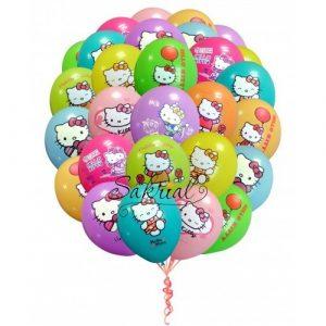 Купить Облако шаров Hello Kitty