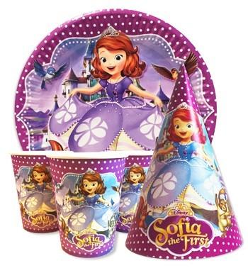Купить Детскую Одноразовую Посуду (Принцесса София)