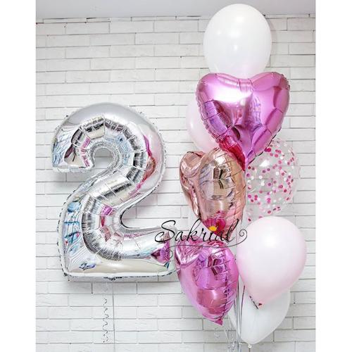 Подарок шариков девочке на 2 годика