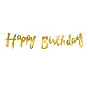 Купить Гирлянду (Happy Birthday) Золото