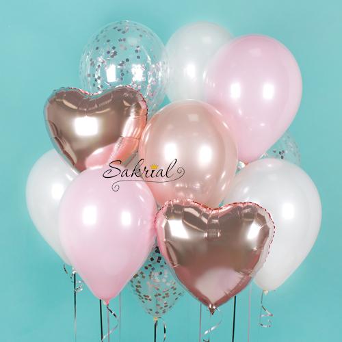 Нежный подарок из шаров на День Рождения