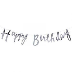 Купить Гирлянду (Happy Birthday) Серебро