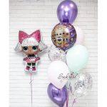 Оформление шарами в стиле Куклы лол