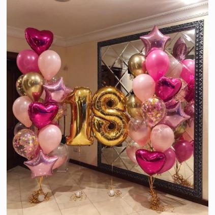 готовый набор шаров на 18 лет
