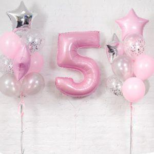 Красивые шарики для девочки на 5 лет