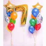 Разноцветные шары на 7 лет
