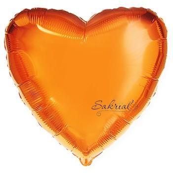 Оранжевое Фольгированное Сердце