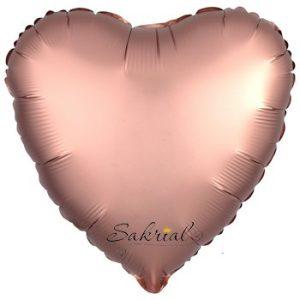 Сердце Сатин «Розовое Золото»