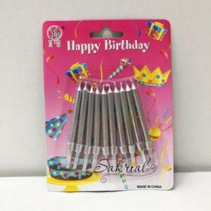 Серебряные Свечи для Торта