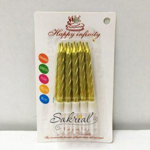 Свечи для Торта (Золото Металлик)