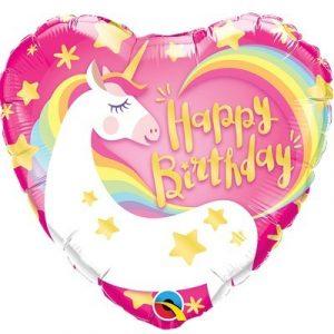 Шар Happy Birthday Единорог