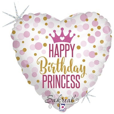 Шар Happy Birthday Princess