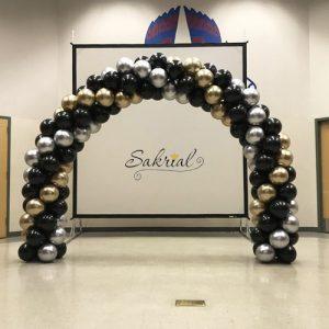 Красивая арка из шариков