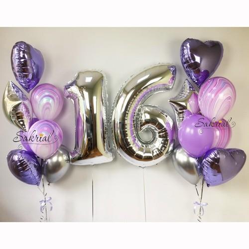 Подарок на 16 лет из шаров
