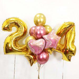 Очень классный набор шариков на День Рождения