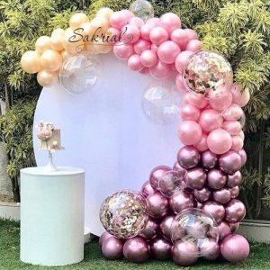 Полуарка в Розовых Шарах