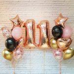 Украшение шарика в розово золотом стиле