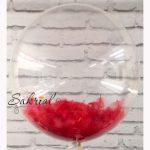Купить Шар Bubble с Красными Перьями