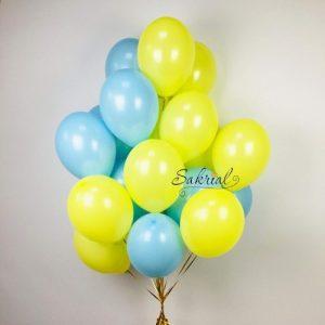 Заказать Облако Шаров Желто - Голубые
