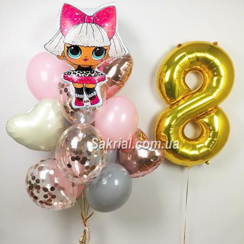 Купить шарики в стиле куклы лол