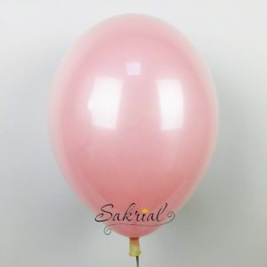 Стеклянный Розовый Шар с Гелием