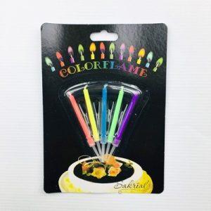 Свечи для торта разноцветные огни 5 шт