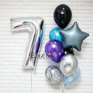 Подарок из шаров на 7 лет мальчику на день рождения в Киеве