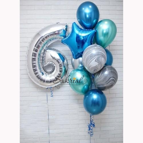 Подарок мальчику на 6 лет цифра и шарики