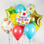 Готовый Цветной Набор Шаров на День Рождения