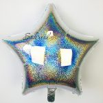 Звезда Голографическая «Серебро»