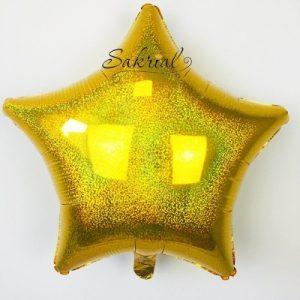 Звезда Голографическая «Золото»