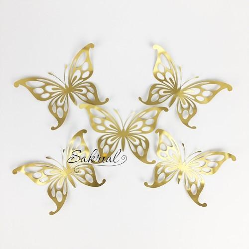 Золотые Бабочки для Шаров 5шт