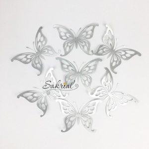 Серебряные Бабочки для Шариков 7шт