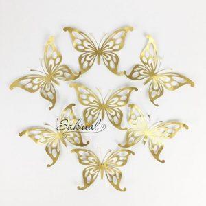 Золотые Бабочки для Шариков 7шт