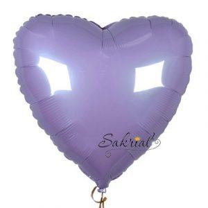 Лавандовое пастель Фольгированное Сердце