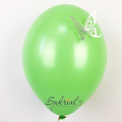 Зеленый Шары Пастель с Серебряной Бабочкой