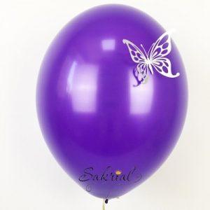 Фиолетовые Шары Пастель с Серебряной Бабочкой