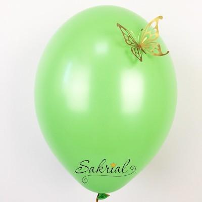 Зеленый Шары Пастель с Золотой Бабочкой