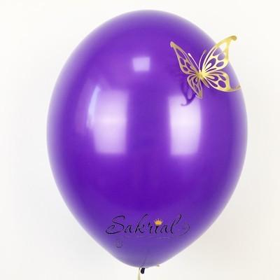 Фиолетовые Шары Пастель с Золотой Бабочкой