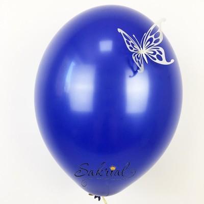 Темно-Синие Шары Пастель с Серебряной Бабочкой