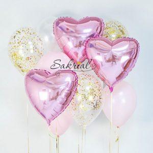 Нежный набор шариков для девочки