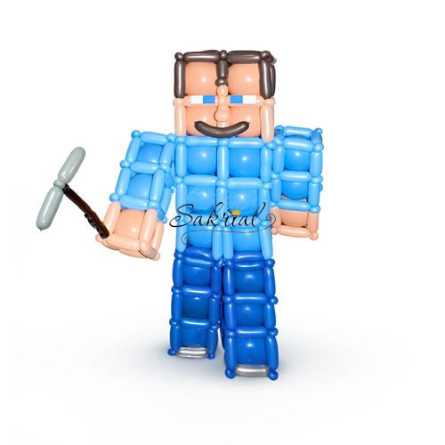 Стив из Minecraft с Шариков