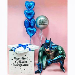 Коробка с шарами Бэтмен