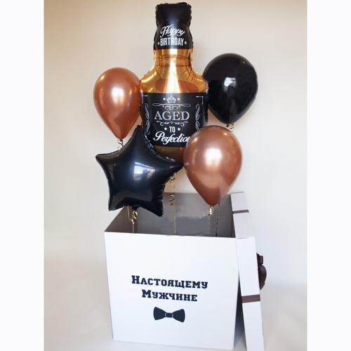 Коробка с шарами мужчине на День Рождения